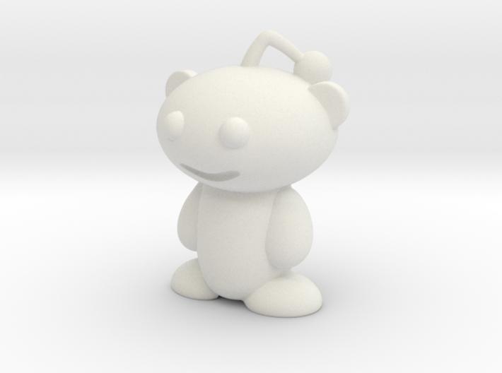 Cute Reddit Alien Snoo Pencil Topper 3d printed