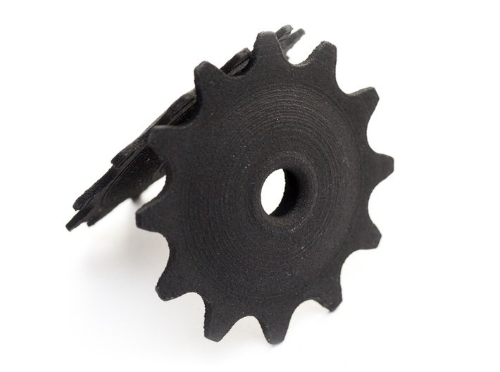 Pulley 12t for RD, hollow, flange (upper pulley) 3d printed