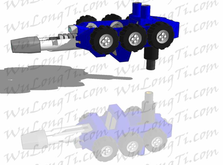 Target Master Roller 3d printed gun mode for larger figures