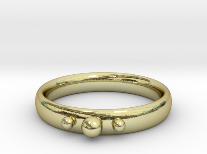 Ring with beads 3d printed
