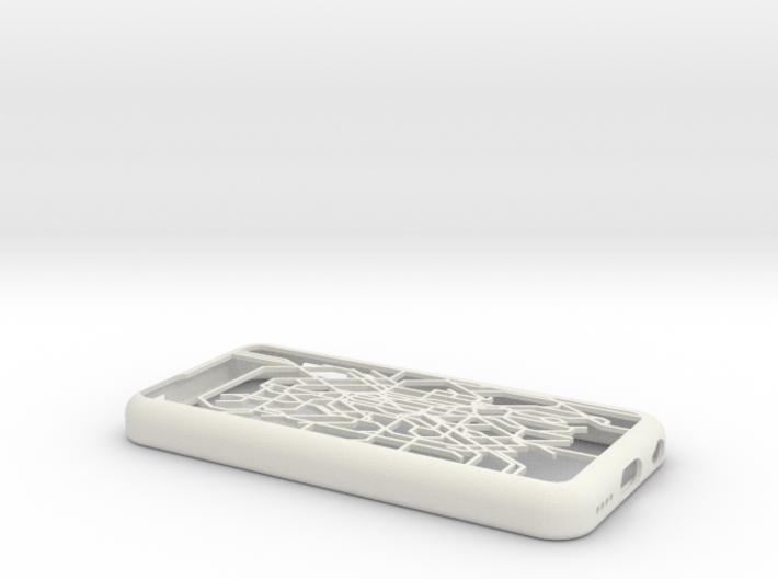 Paris metro map iPhone 5c case 3d printed