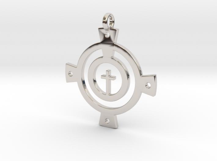 Encircled Cross 3d printed