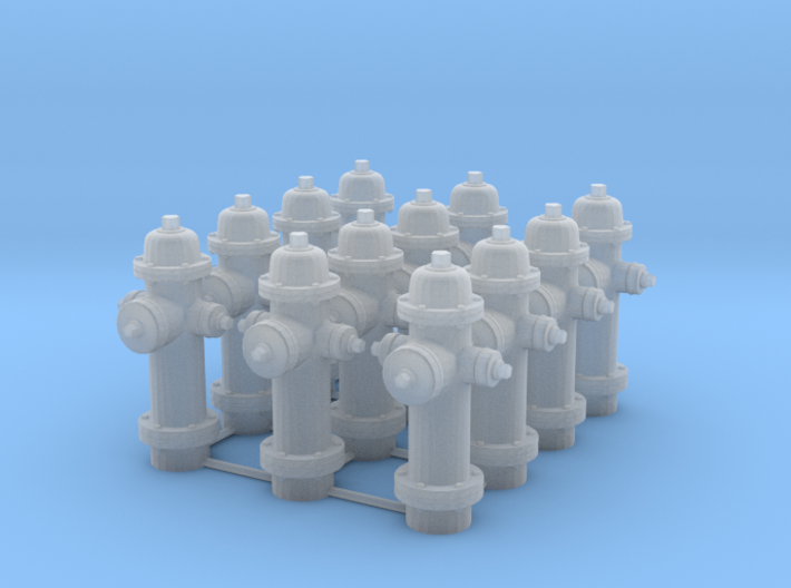 1/64 scale Hydrant Set of 12 3d printed