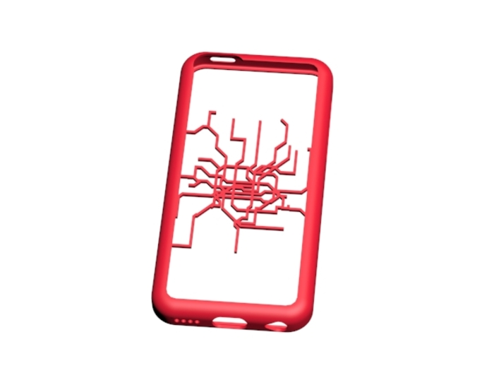 Shanghai Metro map iPhone 5c case 3d printed
