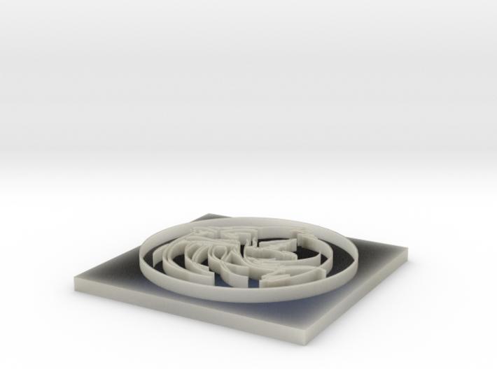 Catfish chip with circle and base 3d printed