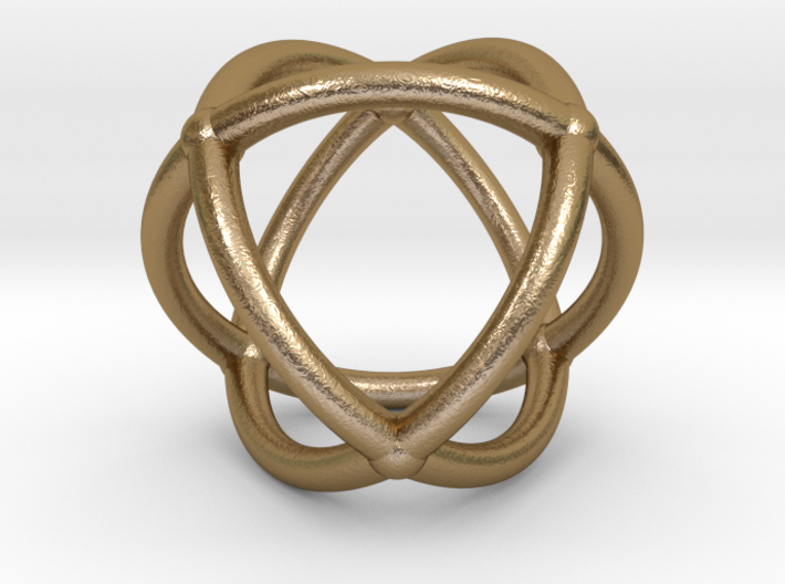 0072 Stereographic Polyhedra - Octahedron 3d printed