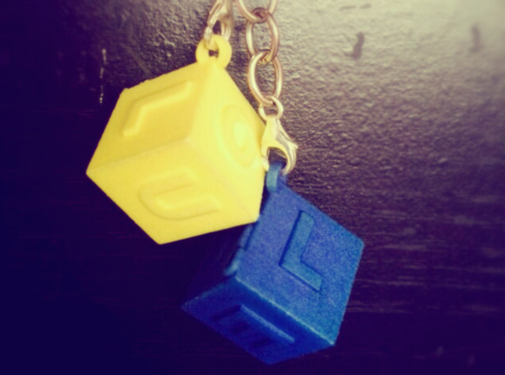 ILOVEU (yellow) 3d printed