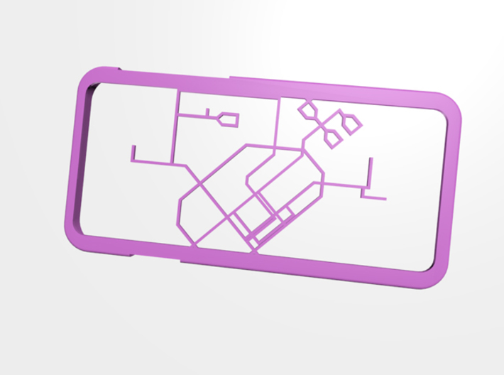 Singapore MRT network map iPhone 6 case 3d printed