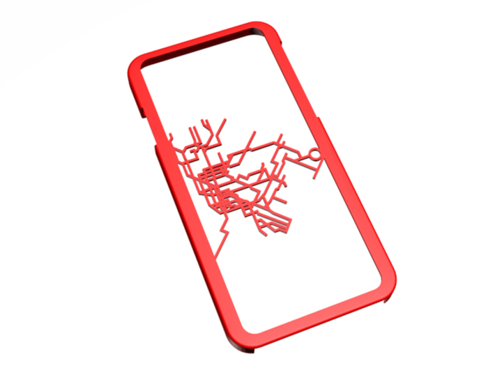 NYC subway map iPhone 6 case 3d printed