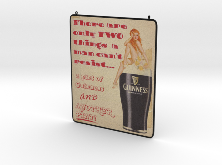 Pin Up Guinness 3d printed