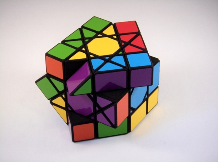 OctoCube Puzzle 3d printed Partial Scramble