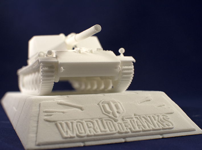 1:48 Rhm.-Borsig Waffenträger from World of Tanks 3d printed Photo of printed model on stand. Stand is sold separately