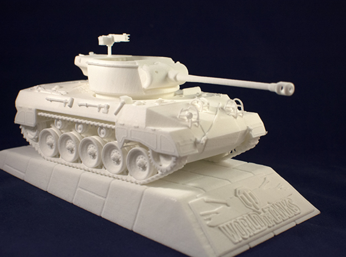 1:35 World of Tanks stand for miniatures  3d printed Stand with M18 Hellcat model. M18 Hellcat is sold separately