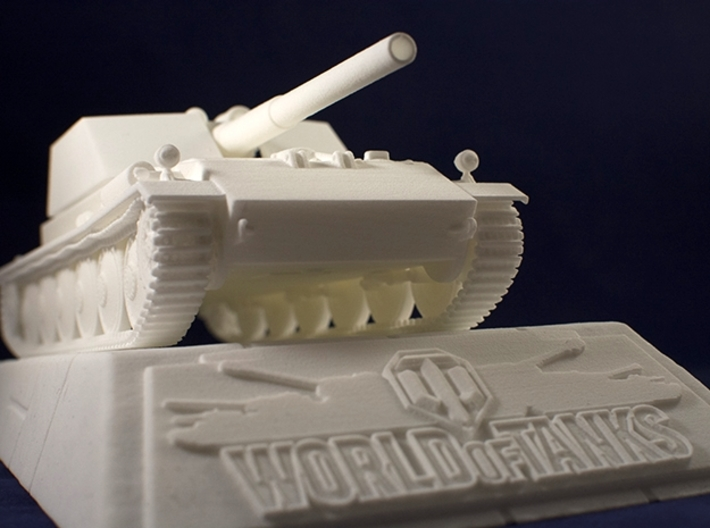 1:35 World of Tanks stand for miniatures  3d printed Stand with Rhm.-Borsig Waffenträger model. Rhm.-Borsig is sold separately
