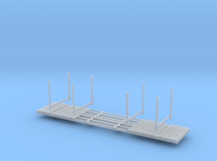 NP-BN Log Car HO Scale Lite Bunks 3d printed