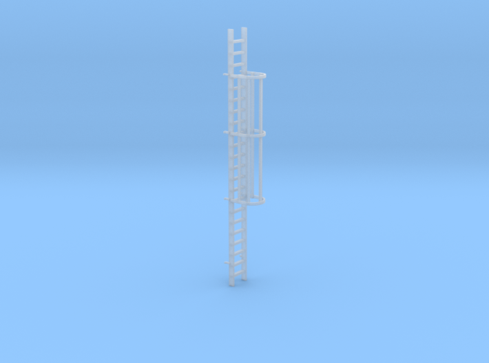 'N-Scale' - 20 Foot Caged Ladder 3d printed