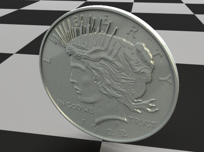 Two Face Silver Dollar (unscratched) 3d printed Booth Sides are the same