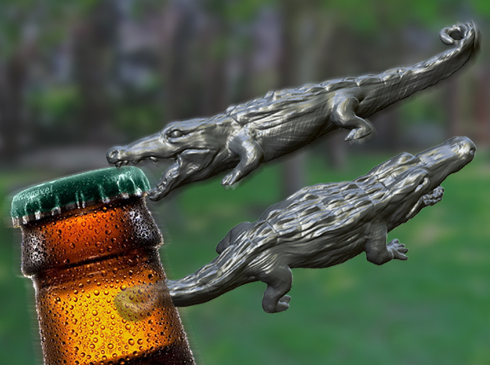Alligator Keychain / bottle opener 3d printed