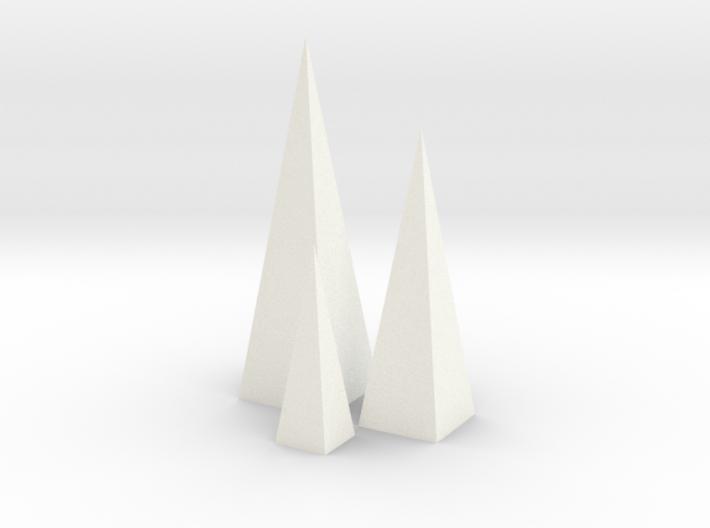 Triple Pyramids 1:12 scale decor 3d printed