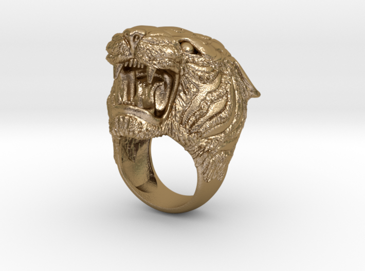 Tiger ring 3d printed