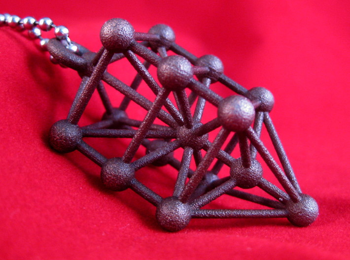 Large Qabalistic Tree of Life Pendant 3d printed Bronze Steel Kabbalistic Tree of Life