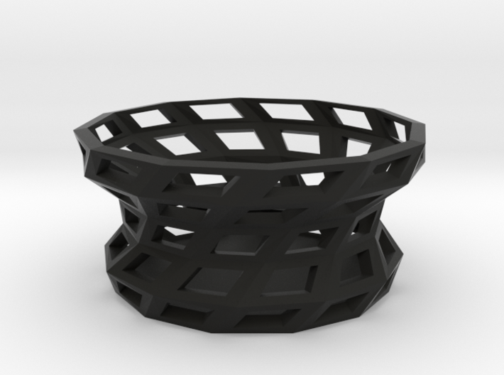 Twisted shapes bowl 3d printed