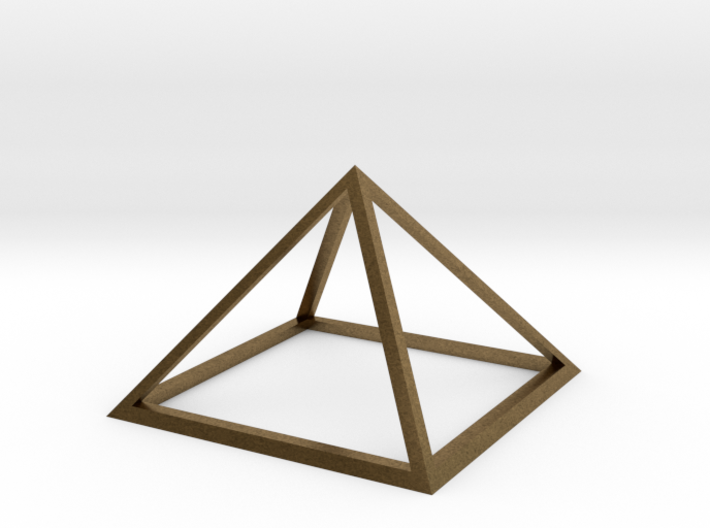 3D Wireframe Pyramid 3d printed