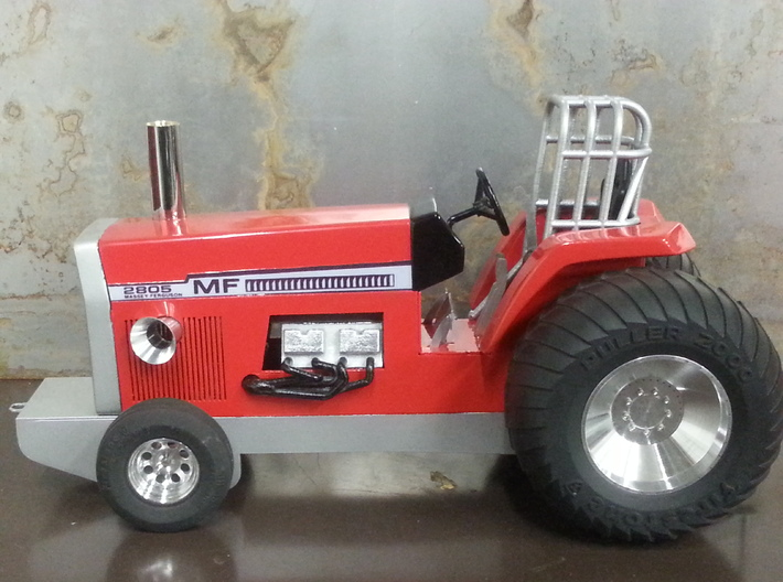 WARPATH ROLL CAGE 3d printed Painted Silver