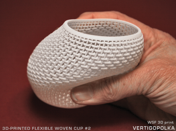 100mm Woven Cup 2 TEST 3d printed