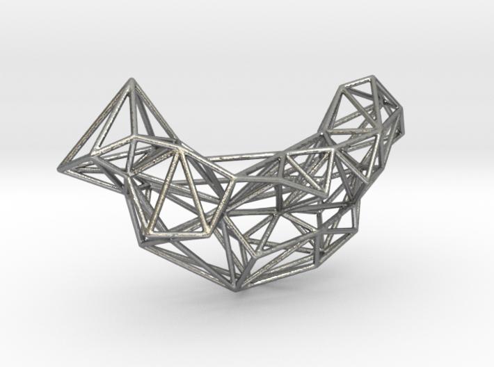 Mesh Necklace no.1 3d printed
