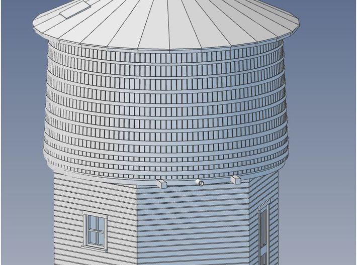HO Scale PEIR 25K Gallon Water Tower  3d printed