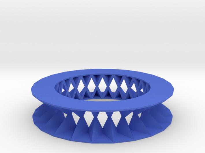 Rhombus pattern bracelet 3d printed