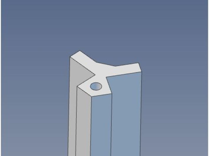 HO Scale 120 degree Structure Corner Trim 3d printed