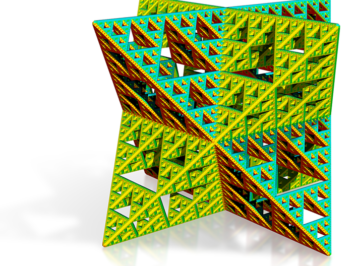 Sierpinski Octostar in color 5cm 3d printed