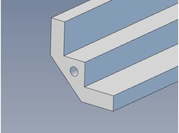 HO Scale 90 Degree INSIDE Structure Corner Trim 3d printed