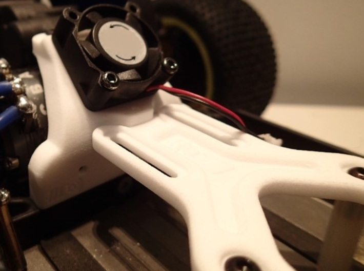 B5M 25MM FAN CHASSIS BRACE (waterfall) 3d printed With our strap