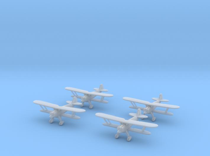 1/300 Heinkel He-51 (x4) 3d printed