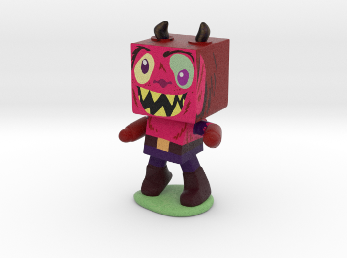 Squarey Monster 3d printed