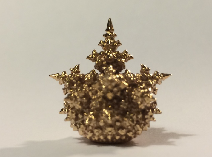 Amazing Fractal Bulb - mini 3d printed Polished Bronze