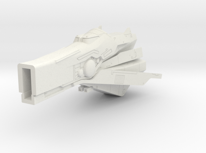 LoGH Imperial Fast Battleship 1:3000 (Part 2/2) 3d printed