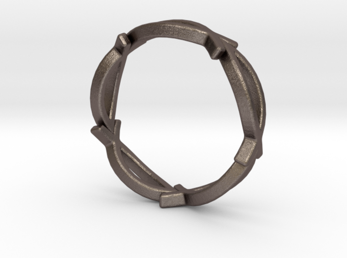 Jesus Fish Eterniy Style Ring Size 13 3d printed