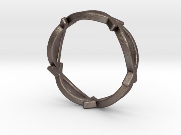 Jesus Fish Eterniy Style Ring Size 10 3d printed