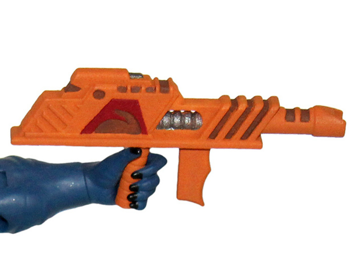 200x Arachna Blaster 3d printed Painted Prototype printed in White Strong & Flexible Polished