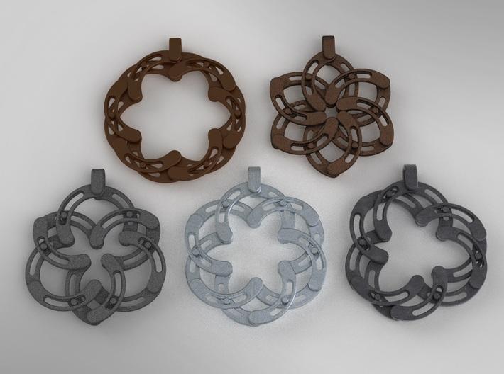 Expandable-S Flower Pendant/Keychain 3d printed