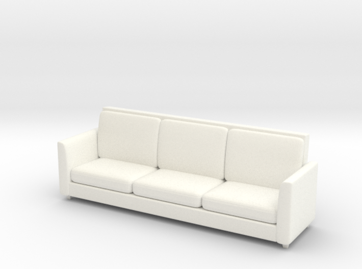 Miniature 1:48 Sofa 8 Foot 3d printed