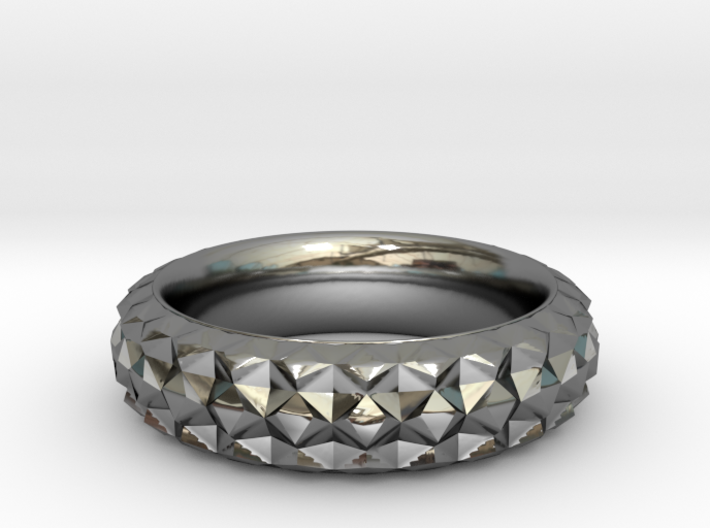 Facet Ring 3d printed