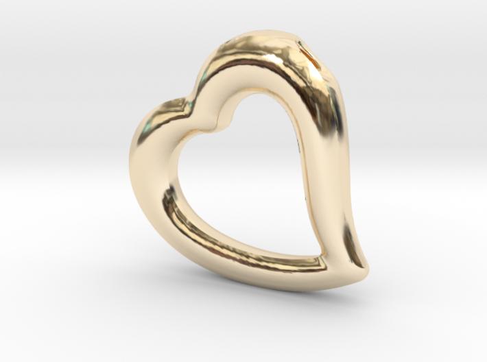 Heart Pendant Mark I 3d printed