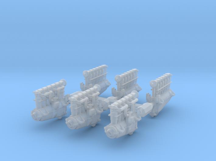 1/144 Mercedes D.IIIa Engines 3d printed