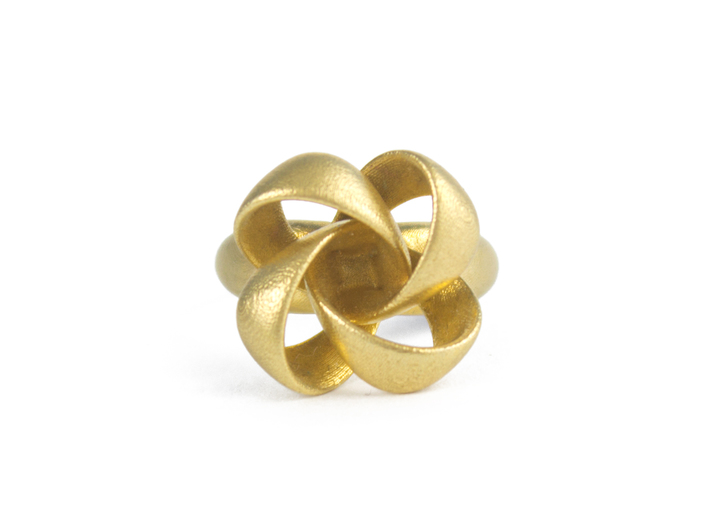 Knot Ring Size 7 3d printed