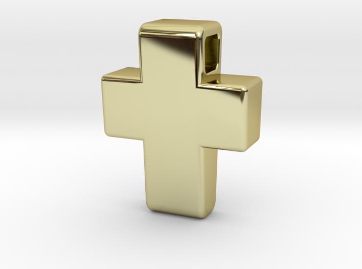 Chunky Cross Pendant 3d printed